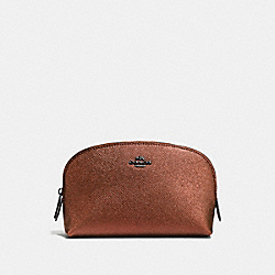 COACH F59957 Cosmetic Case 17 MATTE BLACK/METALLIC RUST