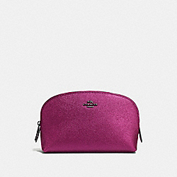 COACH F59957 Cosmetic Case 17 MATTE BLACK/METALLIC MAUVE