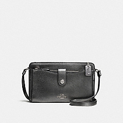COACH F59958 Pop-up Messenger SILVER/METALLIC GRAPHITE