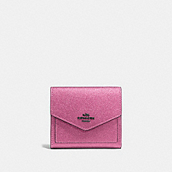 COACH F59972 Small Wallet METALLIC BLUSH/DARK GUNMETAL