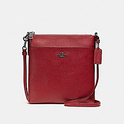 COACH F59975 - MESSENGER CROSSBODY WASHED RED/DARK GUNMETAL
