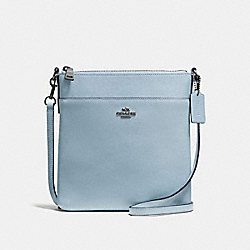 COACH F59975 Messenger Crossbody DARK GUNMETAL/PALE BLUE