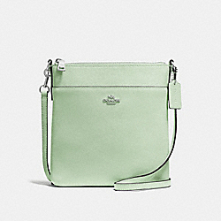 COACH F59975 Messenger Crossbody PALE GREEN/SILVER