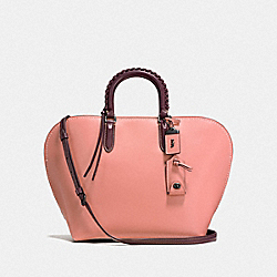 DAKOTAH SATCHEL WITH WHIPSTITCH HANDLE - F59983 - BP/MELON