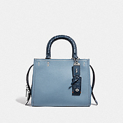 COACH F59995 - ROGUE 25 WITH CROCODILE DETAIL LH/CORNFLOWER