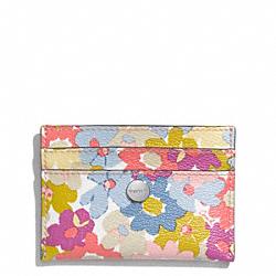 COACH F60260 Peyton Floral Print Card Case
