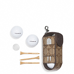 COACH F60459 Coach Heritage Stripe Golf Ball Set