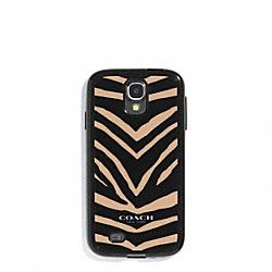 COACH F60942 Zebra Print Molded Galaxy S4 Case
