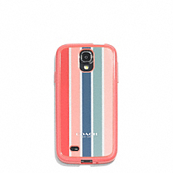 COACH F60995 Peyton Multistripe Molded Galaxy S4 Case