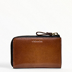 COACH F61077 Bleecker Legacy Leather Zip Keycase