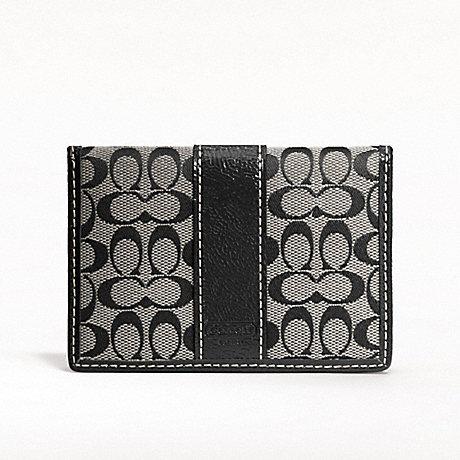 894234d10d COACH F61124 - SIGNATURE CARD CASE - SILVER/BLACK/WHITE/BLACK ...