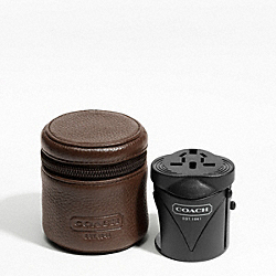 COACH F61186 Travel Adaptor SILVER/MAHOGANY