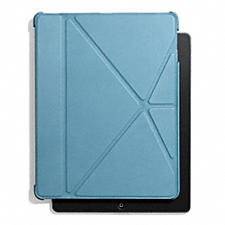 COACH F61193 Bleecker Leather Origami Ipad 5 Case CADET