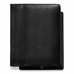 COACH F61223 Bleecker Leather Tablet Case BLACK