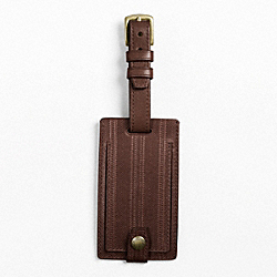 BLEECKER EMBOSSED TICKING STRIPE LUGGAGE TAG - f61236 - 25291