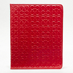 COACH F61364 Julia Embossed Patent Tablet Case