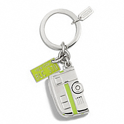 COACH F61431 - CAMPING TRAILER KEY RING NICKEL