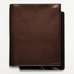 COACH F61745 Bleecker Leather Tablet Portfolio Case MAHOGANY