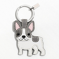 COACH F61909 Leather French Bulldog Key Ring