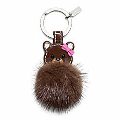 COACH F61913 - MINK BEAR KEY RING ONE-COLOR