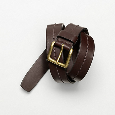 COACH f61941 WASHED STITCHED HARNESS BELT