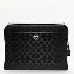 COACH F61967 - SUTTON SIGNATURE NYLON LAPTOP SLEEVE ONE-COLOR