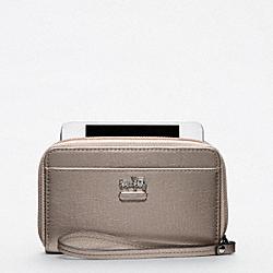COACH F61970 Madison Metallic Leather Universal Case