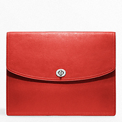 LEATHER UNIVERSAL CLUTCH - f61987 - SILVER/CARNELIGHT GOLDAN