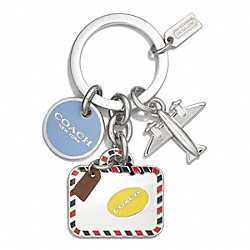 COACH F62140 Travel Charms Key Chain MULTICOLOR