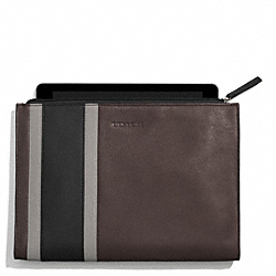 COACH F62295 Heritage Sport Zip Tablet Case SLATE/BLACK
