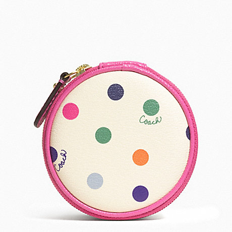 COACH F62341 MULTICOLOR DOT JEWELRY POUCH ONE-COLOR
