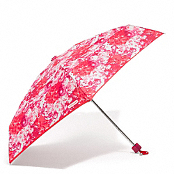 COACH F62447 Peyton Floral Print Mini Umbrella SILVER/PINK MULTICOLOR