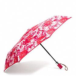 COACH F62448 Peyton Floral Print Umbrella SILVER/PINK MULTICOLOR