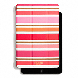 COACH F62465 Peyton Multi Stripe Trifold Ipad Mini Case PINK MULTICOLOR