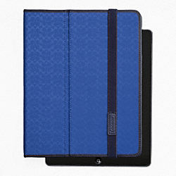 COACH HERITAGE SIGNATURE IPAD CASE - BLUE - F62479