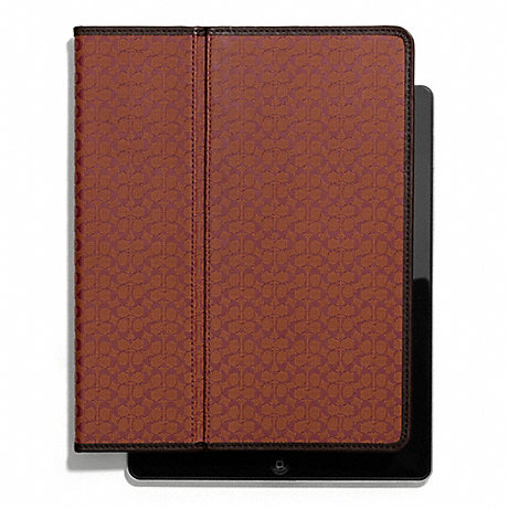 COACH f62479 HERITAGE SIGNATURE IPAD CASE