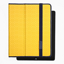 COACH HERITAGE SIGNATURE IPAD CASE - YELLOW - F62479