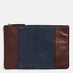 COACH F62531 Bleecker Pouch In Harness Leather NAVY/CORDOVAN