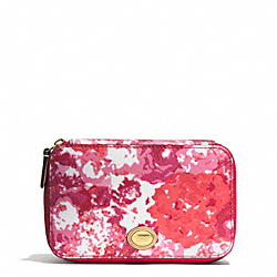 COACH F62532 - PEYTON FLORAL PRINT JEWELRY BOX BRASS/PINK MULTICOLOR