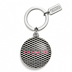 COACH F62564 - NOVELTY LOGO FLASHLIGHT KEY RING  SILVER/MILK/BLACK