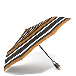 COACH F62572 Peyton Multi Stripe Umbrella SILVER/BLACK MULTI