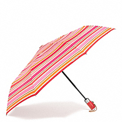 COACH F62572 - PEYTON MULTI STRIPE UMBRELLA SILVER/PINK MULTICOLOR