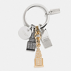 COACH F62586 - SKYLINE MIX KEY RING MULTICOLOR