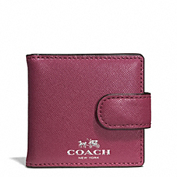 COACH F62592 Darcy Leather Folding Mirror SILVER/MERLOT