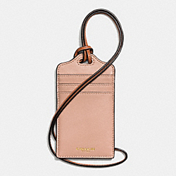 COACH F62603 Madison Id Lanyard In Leather LIGHT GOLD/ROSE PETAL