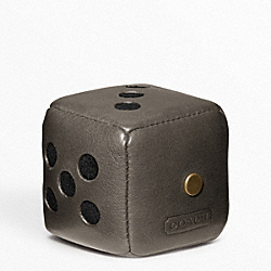 COACH F62666 Bleecker Leather Dice Paperweight