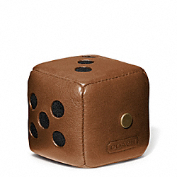 COACH F62666 Bleecker Leather Dice Paperweight FAWN