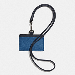 COACH F62763 East/west Camden Lanyard In Leather DENIM