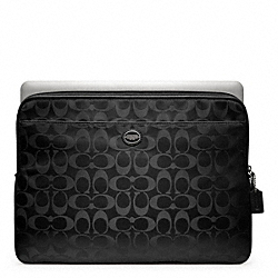 COACH F62812 Signature Nylon Laptop Sleeve