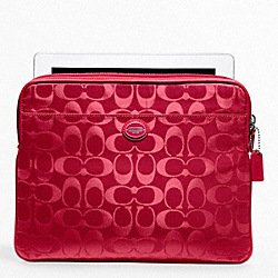 COACH F62815 Signature Nylon Universal Sleeve